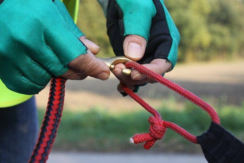 Trainingsaufbau – Seilanspannung